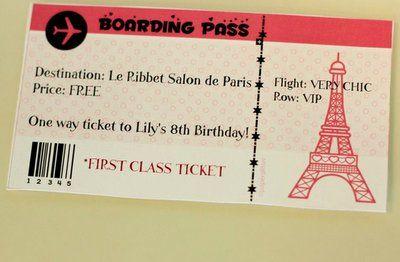 pasaporte de invitacion para paris - Buscar con Google