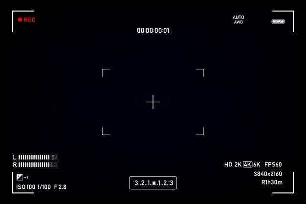 Camera Viewfinder Viewfinder Camera Recording Video Screen On A Black Background Polaroid Picture Frame Overlays Picsart Aesthetic Template