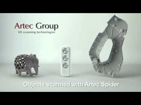 Check the latest video presenting Artec Spider - the first handheld 3D scanner with high accuracy and high resolution. Such incredible capabilites make Artec Spider perfect for CAD applications, reverse engineering and quality control. In the video you will see examples of objects that can be scanned with the Spider. Get Yours Today at http://objexunlimited.com/objex/objexunlimited/services/#tab-id-2
