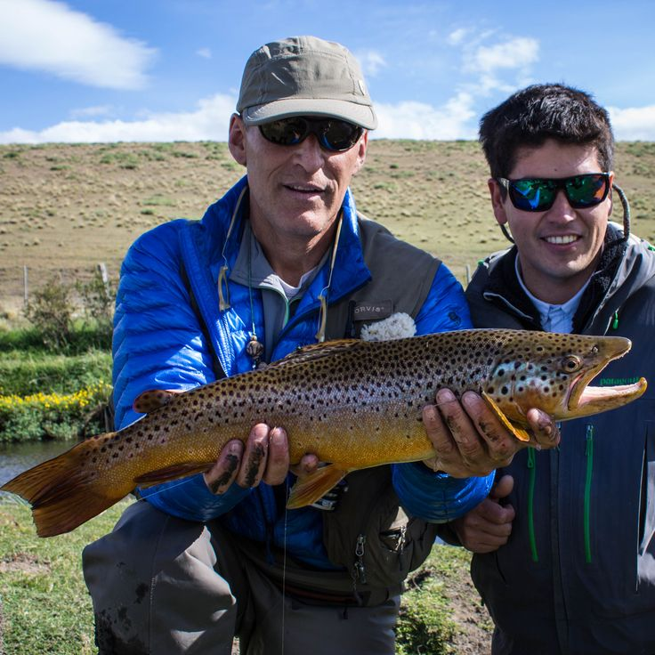 A huge trout we fly-fished in one of the most secret & best places in Patagonia! (Catch & Release, of course)