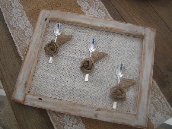 handmade pallet frame with spoons by demetradaskloupo on Etsy