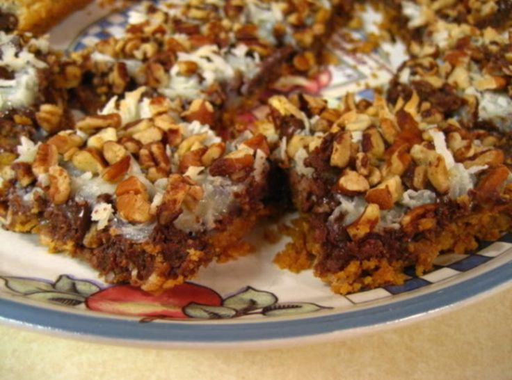 Magic Cookie Bars (Hello Dollies)  (Haven't made these in years)