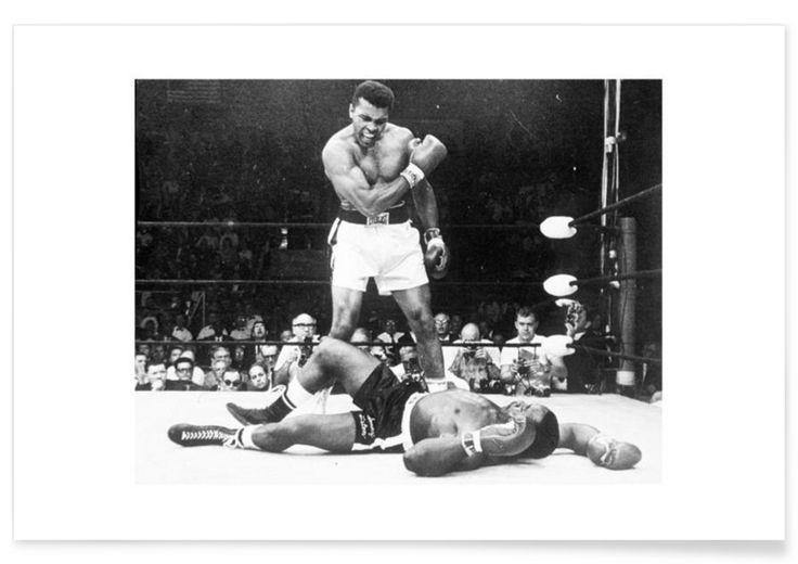 Muhammad Ali rematch with Sonny Liston, 1965 als Premium Poster von Vintage Photography Archive | JUNIQE