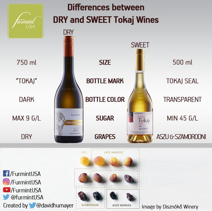A helpful guide to differences between dry and sweet Tokaj wines