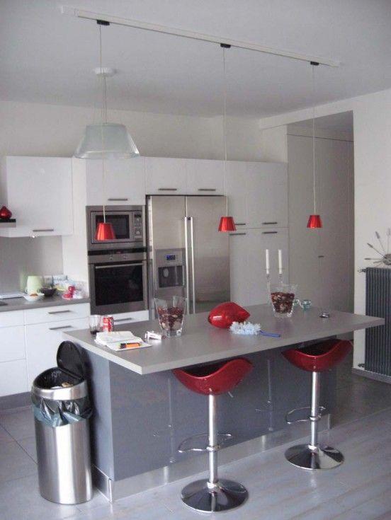 1000 images about d co on pinterest - Cuisine blanche et grise ...