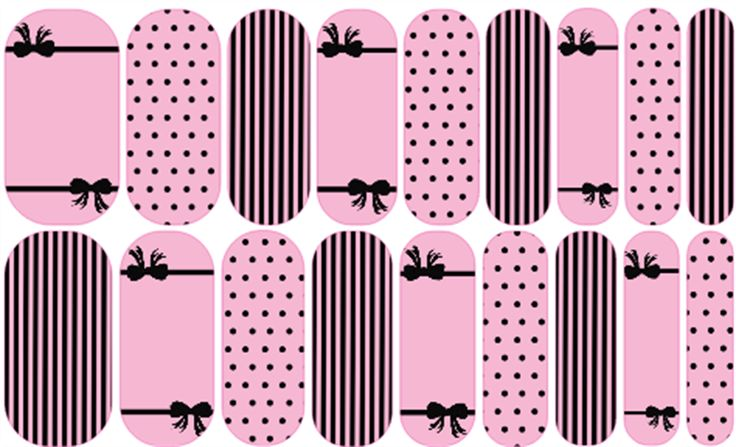 Little Pink Secret | Jamberry | Nail art design by Rachael Snow using Jamberry Nail Art Studio | Join my Facebook group to see more! https://www.facebook.com/groups/snowberriesvip/| Jamberry NAS, Nail Art Studio,  #snowberriesnas #manicure #jamberry #nailwraps #nailswag #nailedit #naildesign #jamberrynails #bow #vspink #victoriassecret #pinkandblack