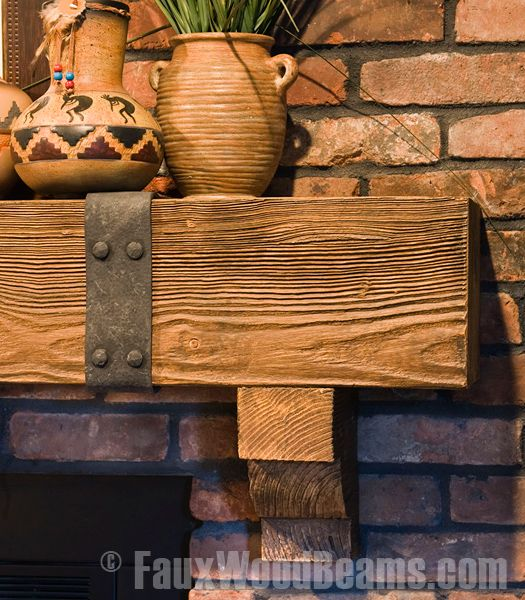 tile for fireplace surround with old beam mantle | Fireplace Mantels