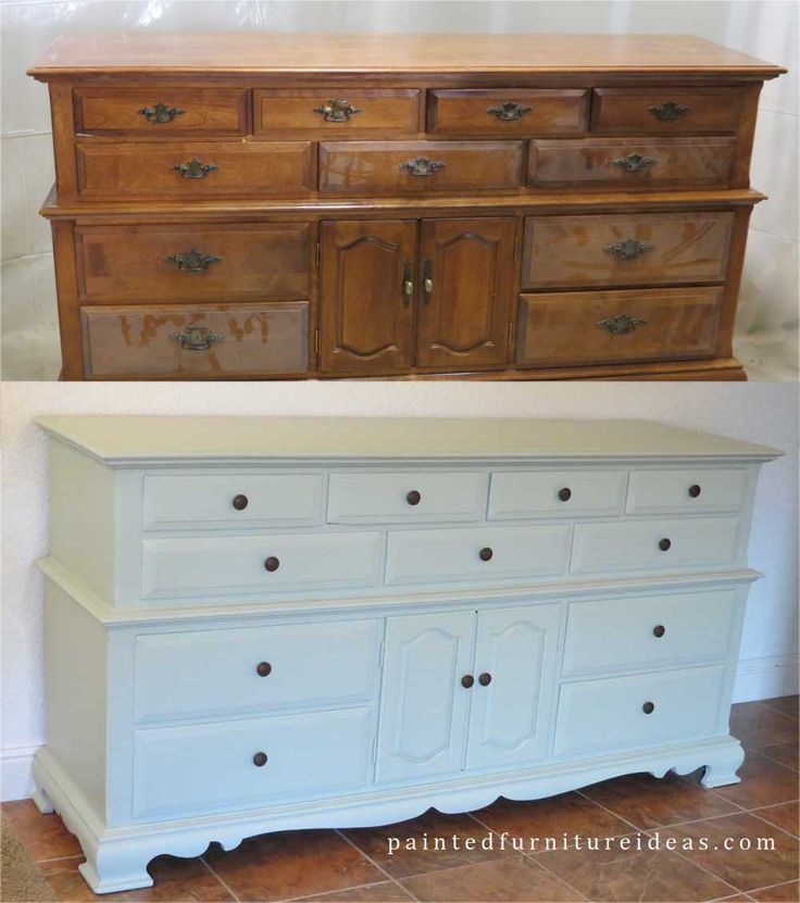 Triple Dresser Makeover A Well Before And After