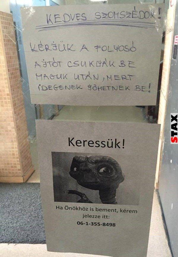 Hasfájdítóan vicces falragaszok, cetlik, és felháborodott levelek: Ezeken az üzeneteken megelevenedik az igazi magyar rögvalóság, és miközben olvasgatjuk őket, rájövünk: mégiscsak jó itt élni. Ilyen üzeneteket máshol nem olvasna az ember, az biztos! :D