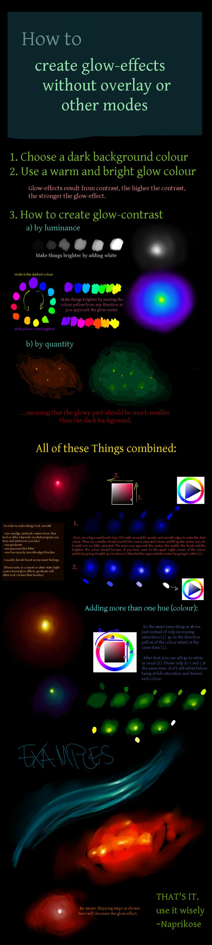 How to create glow effects