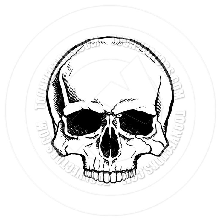 Simple Skull Tattoo Black And White