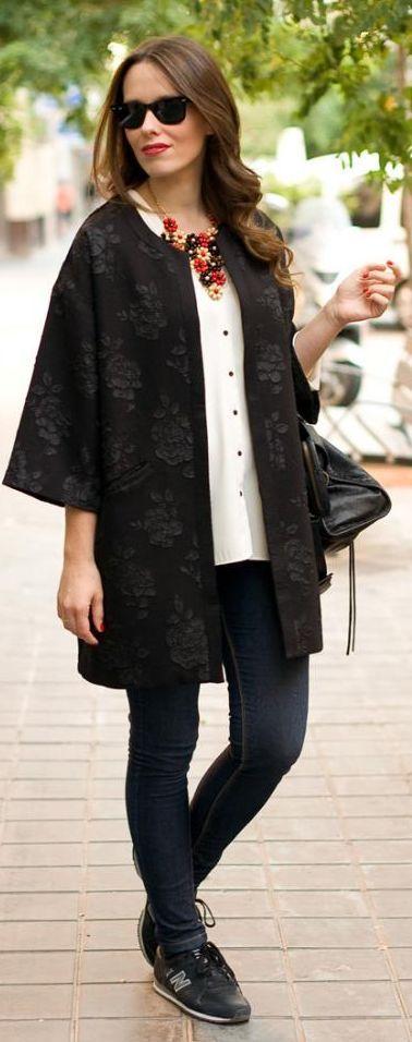 #Kimono #Cute #Coat by Macarena Gea minus the shoes though.
