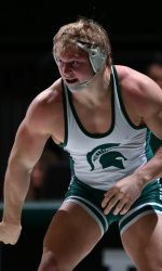 Junior Michael McClure joined Dan Osterman in punching his ticket to the NCAA Championships after a 5-2 decision over Chris Lopez of Illinois. McClure secured at least a top-nine finish and a spot in Des Moines.