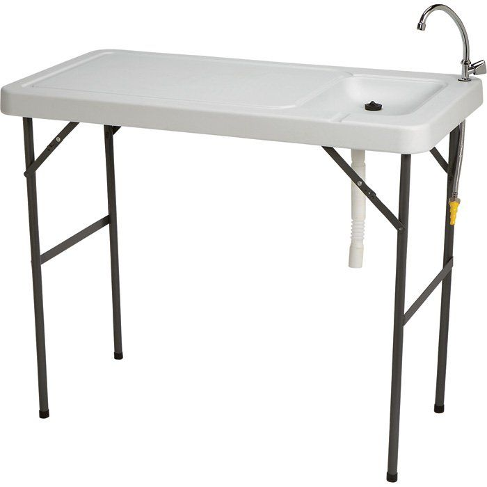 Fish Cleaning Camp Table With Faucet Camping Table Fish