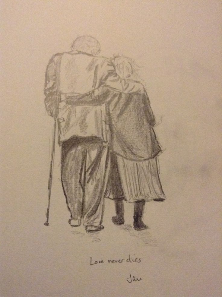 Love never dies, pencil sketch