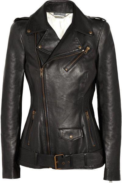 ALEXANDER MCQUEEN Leather Biker Jacket. Sigh.