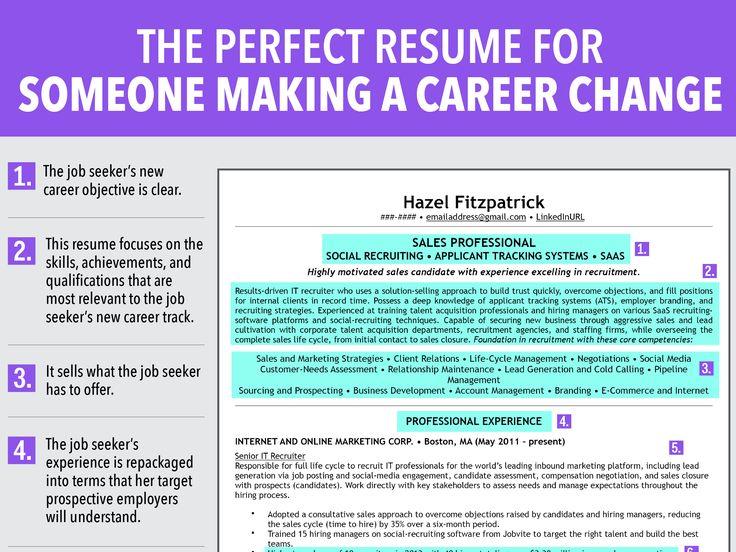 Perfect Resume For Someone Making Career Change  #Resume #CareerChange