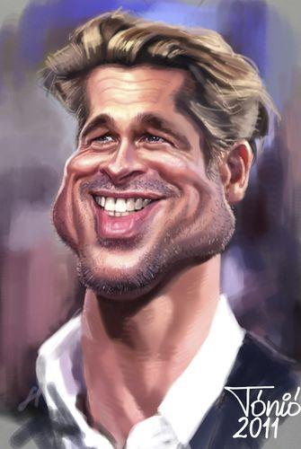 Cartoon: Brad Pitt (medium) by Toniokarikatura tagged hollywood,star,film