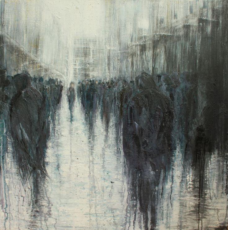 """Saatchi Online Artist: lesley oldaker; Oil, 2012, Painting """"Passing Through"""""""