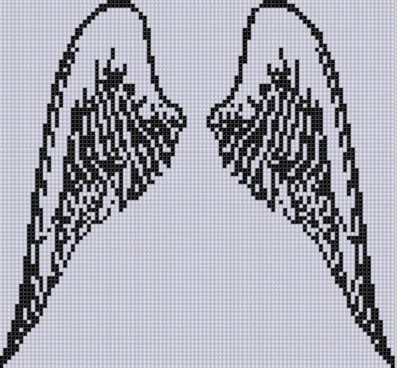 Angel Wings 2 Cross Stitch Pattern by MotherBeeDesigns on Etsy