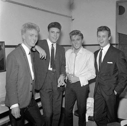 Joe Brown, Marty Wilde, Billy Fury and Mark Wynter, 1960