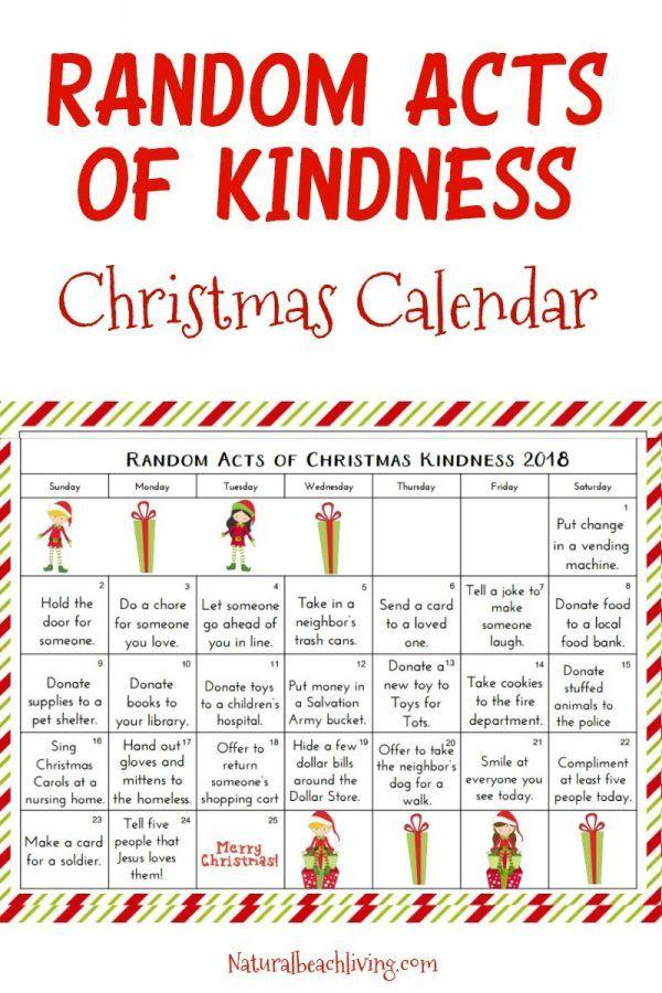Random Acts of Kindness Christmas Calendar - Kindness Advent