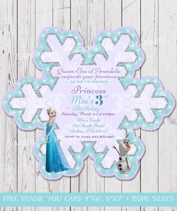 12 best Anastasia Birthday Party Frozen images – Snowflake Birthday Invitations