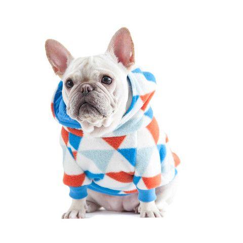 French Bulldog wearing a Geometric Hoodie