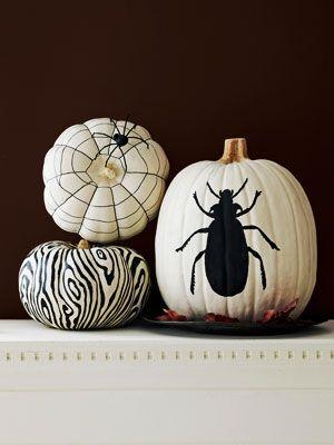 Patterned Pumpkins - Ideas for Painting Pumpkins