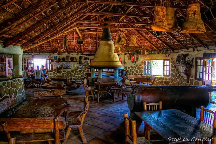 Bar la Duna in Cabo Trafalgar, Cadiz, Andalusia. Picture by Stephen Candler