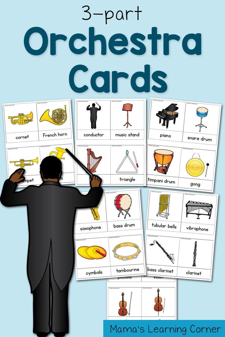 3-part Cards: Orchestra Cards!  A fun way to learn about the different parts of the orchestra!