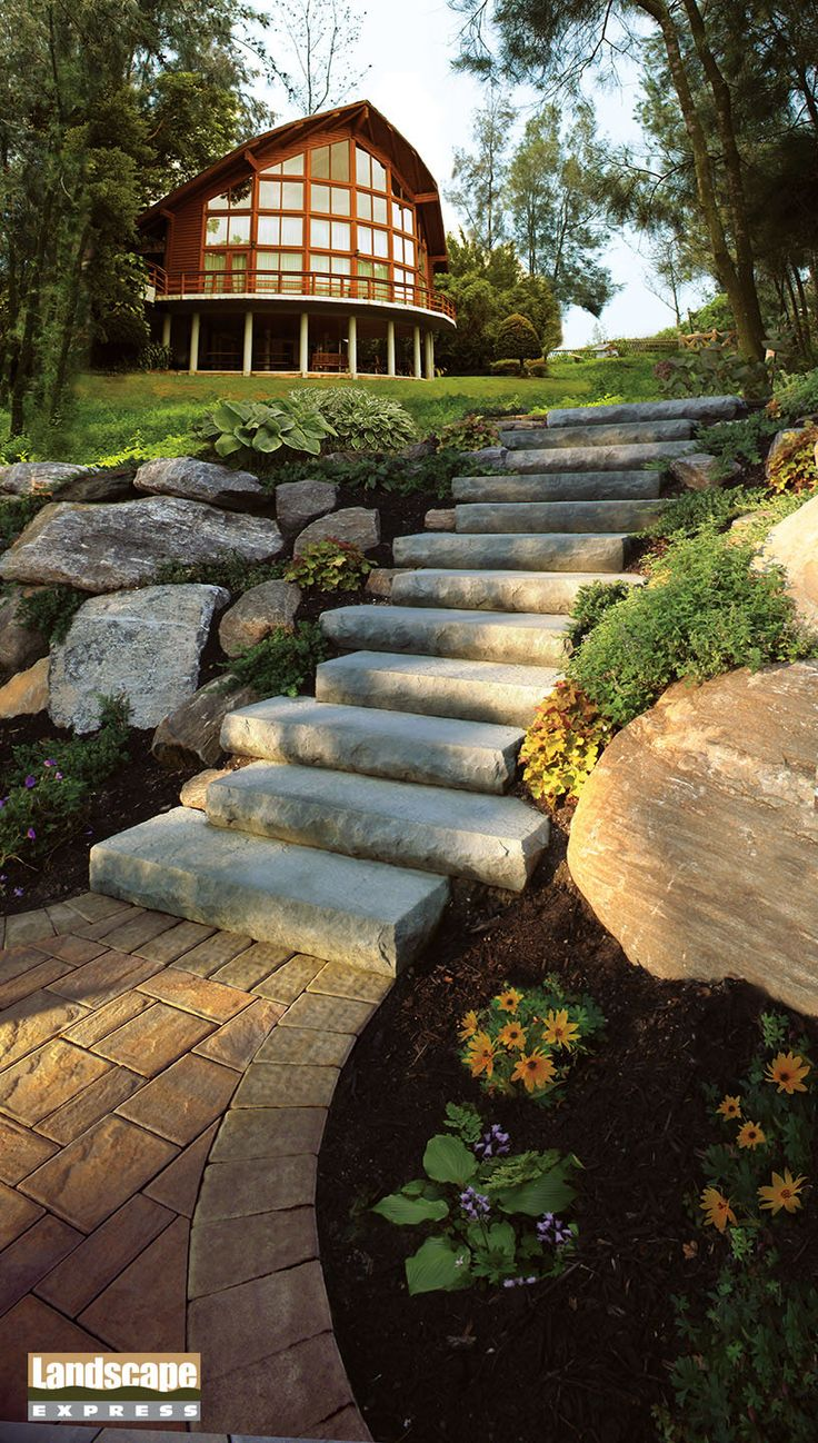 Design Ideas For Brick And Paving Stone Steps Landscape