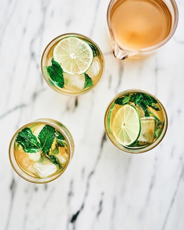 Ginger, mint, honey drinks.