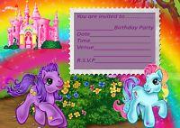 NEW MY LITTLE PONY PARTY BIRTHDAY INVITATIONS, KIDS, CHILDRENS PARTY INVITES