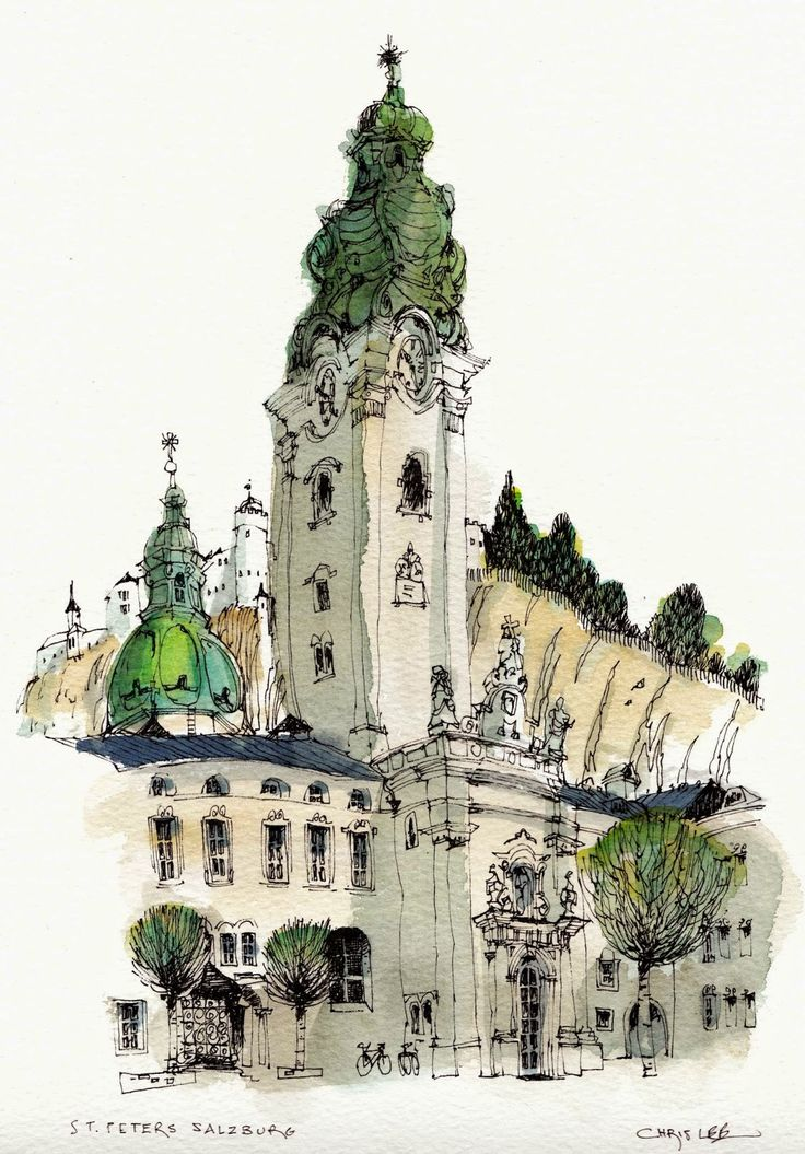50 best architecture in watercolor images on pinterest for Chris lee architect