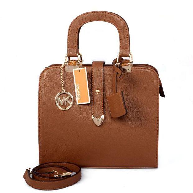 Michael Kors Outlet Pebbled Leather Medium Brown Satchels -save up 80% off  michael kors. Handbags ...