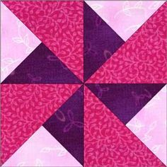 Pinwheel Quilt Block                                                                                                                                                      More