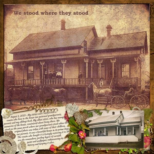 """We stood where they stood. Created using """"One Step Beyond 53 Free With Purchase"""" by BooLand Designs. #theStudio #digitalscrapbooking"""
