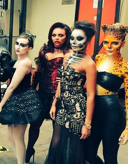 Little Mix on set of the Celebrity Juice Special Halloween Episode (airing this Thursday, 29th).