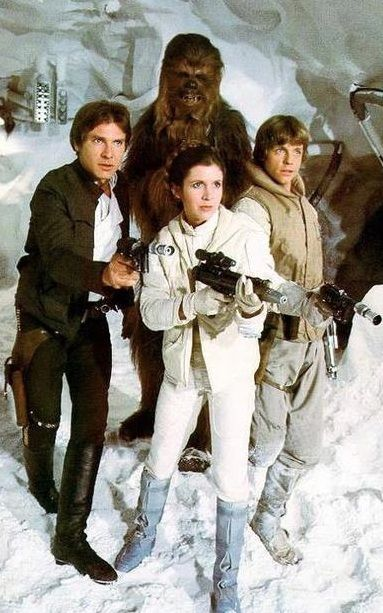 Han Solo, Chewbacca, Princess Leia, Luke Skywalker - Star Wars
