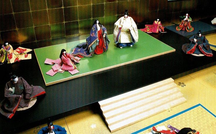 The Tale of Genji.  A complicated doll set depicting the Heian Era.
