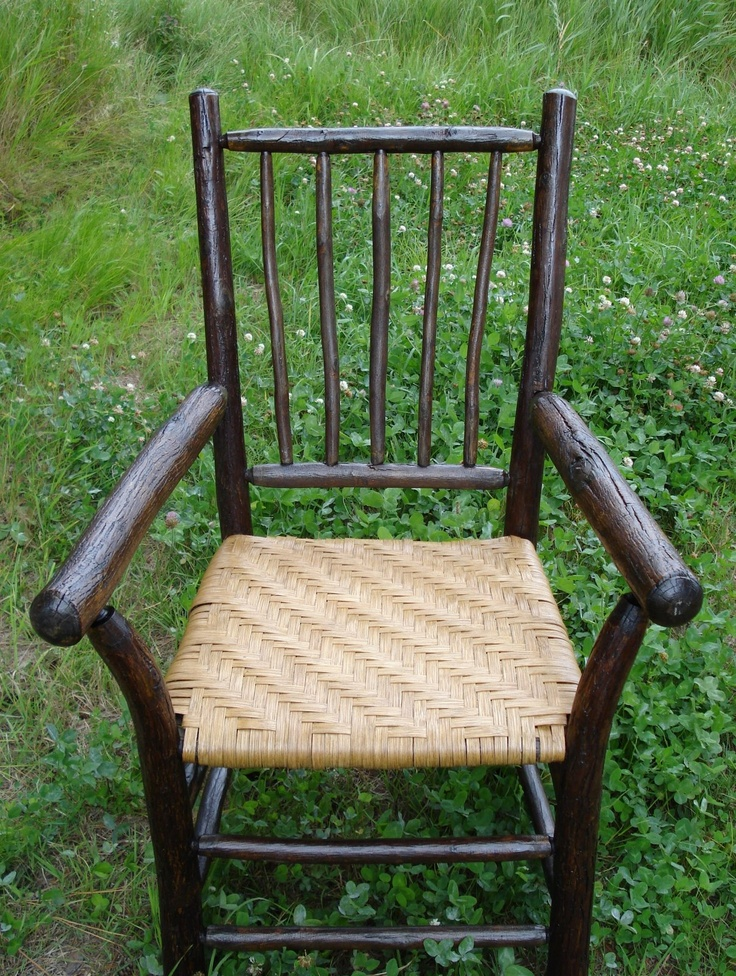 Rustic Hickory Chair With Reed Splint Seat Chair Caning