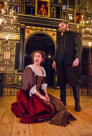 Hattie Morahan (Beatrice-Joanna) and Trystan Gravelle (Deflores) in The Changeling.