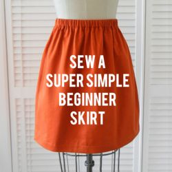 A quick, easy skirt tutorial with tons of steps to make it simple - even for the beginner!