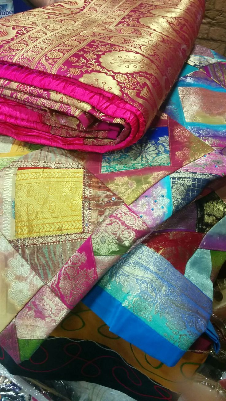 Beautiful zari bedspreads, throws by Soul of India.