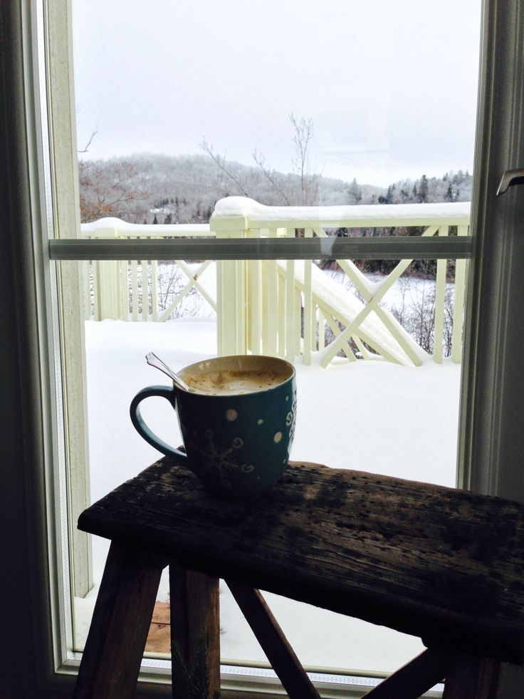 """A """" Marcelle """" espresso made from a moka and a frother .  Perfect way to enjoy a nice winter Saturday morning in the Country"""