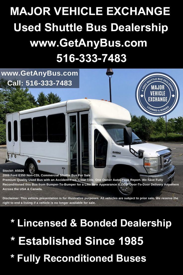 Adult Day Care Buses For Sale 2009 Ford E350 NonCDL