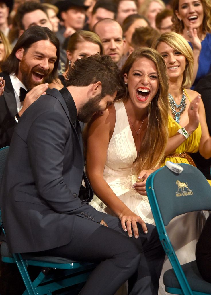 "Thomas Rhett and his wife, Lauren Akins at the ACMs.Lauren inspired Thomas' award-winning song, ""Die a Happy Man."""
