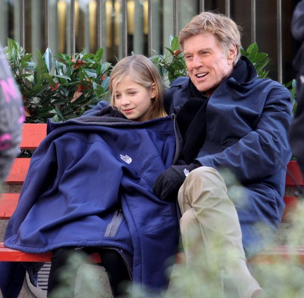 robert redford with his family | Robert Redford Actor Robert Redford films scenes for 'The Company You ...
