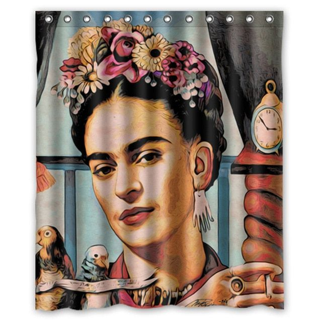 Famous Painter Frida Kahlo Painting Custom Shower Curtains Kahlo